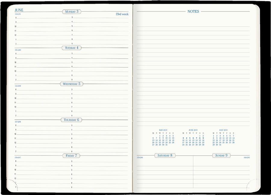 picture relating to Weekly Planner Page named Place 24 » Catalog Quo Vadis Planners, Magazines Notebooks