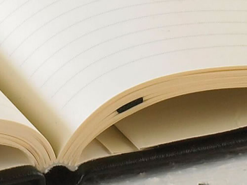Habana notebooks have creamy ivory pages in blank or ruled.