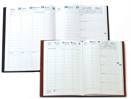 Pen-friendly planners and diaries have 90g extra white paper.