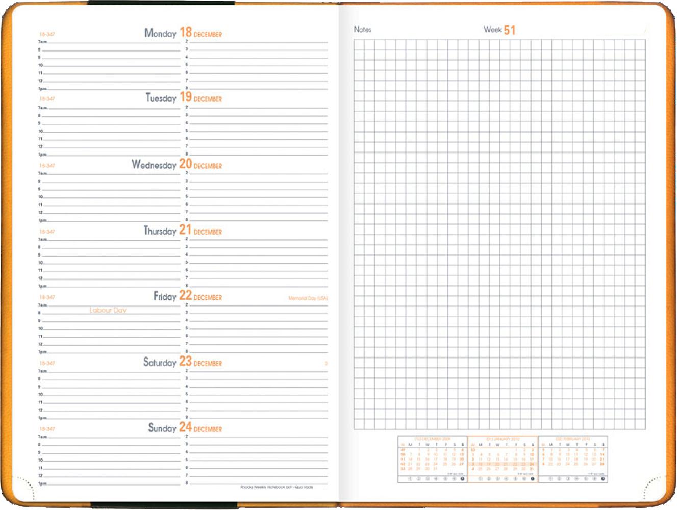 Rhodia Planner Desk 187 Catalog Quo Vadis Planners